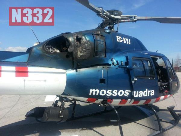 Police Helicopter in Emergency Landing