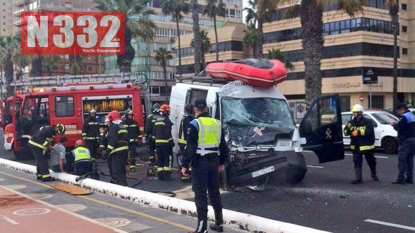 Guardia Civil Divers Injured in Vehicle Crash 1