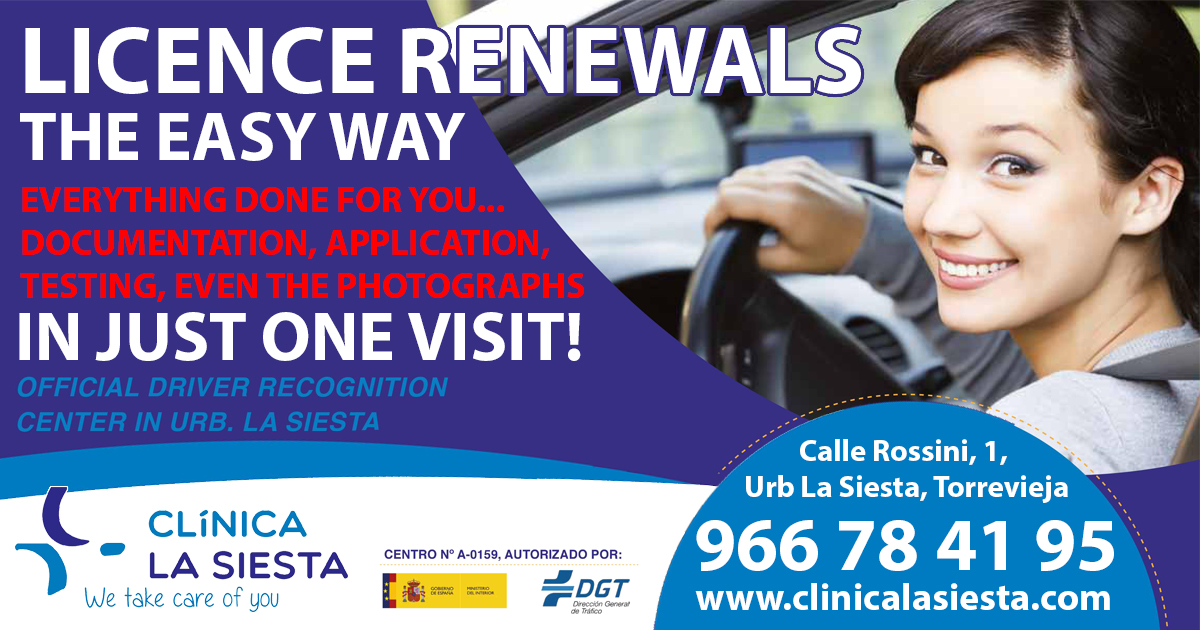 Permalink to:Driving Licence Renewals at La Siesta Clinic Torrevieja